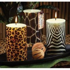 Leopard Print Home Accessories Led Candles Safari Decor Room Board Pinterest Leopards Printing And Animal