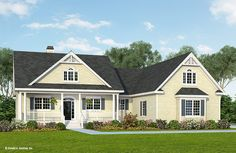 1905 sq feet. just about perfect. Very small changes maybe. The Coleraine House Plan