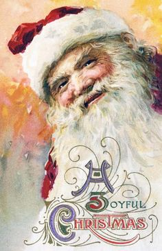 Shop Vintage Christmas, Victorian Santa Claus Portrait Holiday Postcard created by ChristmasCafe. Vintage Christmas Images, Victorian Christmas, Christmas Pictures, Christmas Postcards, Father Christmas, Santa Christmas, Christmas Trees, Christmas Decor, Elsa Gonzalez