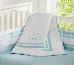 I love the Harper Nursery Bedding on potterybarnkids.com  I love this color! You could make it boy or girl with the right sheet and decorations