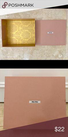 Miu Miu Perfect storage box for your shoes 👠 Miu Miu Shoes Platforms