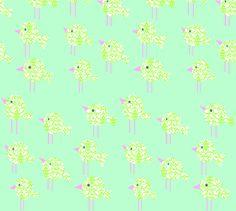 damask_birdies_-_blue_colorway_copy fabric by petunias on Spoonflower - custom fabric