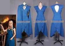 Game of Thrones Daenerys Targaryen Blue Dress Costume  Full set of