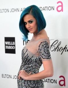 Katy Perry's Blue Hair
