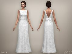 Sims 4 CC's - The Best: Ellie Wedding Dress by BEO