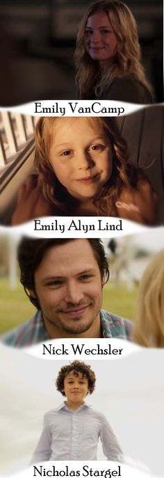 Revenge - Emily VanCamp(Emily Thorne/original Amanda Clarke), Emily Alyn Lind(young Amanda Clarke), Nick Wechsler(Jack Porter), and Nicholas Stargel(young Jack Porter) Am I the only one who noticed this??