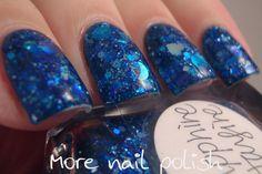 Lynnderella Sapphire Starfire over Picture Polish Cosmos