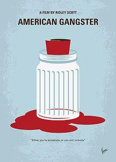 Chungkong Art - No748 My American Gangster minimal movie poster