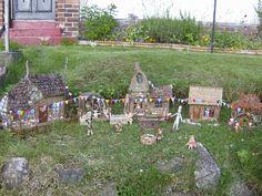 "Tiny ""Fairy houses"" in the Garden."