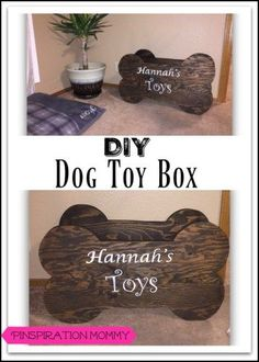 How to build a toy box for dog toys. Free woodworking plans for this quick and easy DIY dog toy box.
