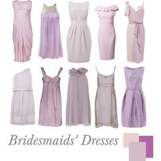 """""""Bridesmaids' Dresses: Radiant Orchid"""" by pinkrubbersoul on Polyvore"""