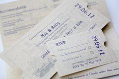 Train Ticket Wedding Invitation  Travel  by AngelfinsStationery