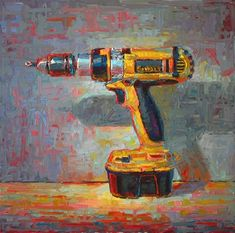 "Daily Paintworks - ""Ode to a DeWALT Drill"" - Original Fine Art for Sale - © Raymond Logan Still Life Artists, Hyperrealism, Ap Art, Gcse Art, Paintings I Love, Everyday Objects, Art Sketchbook, Painting Inspiration, Art For Sale"