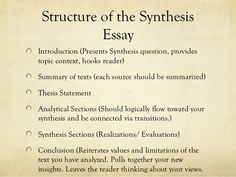 Essay Wizard Synthesis Essay How To Write A Good Synthesis Essay Example English Essay Phrases To Use In Essays also Best Essays Uk Synthesis Essay Format  Really Like This Idea For Prompt  Educational And Career Goals Essay
