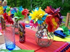 Mexican tissue paper flowers are a great way to turn an ordinary table into a fiesta extraordinare!