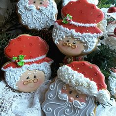 Mr and Mrs Santa gingerbread cookies