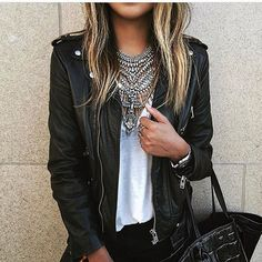 @sincerelyjules in FALKOR II and The Kooples leather jacket #crushing