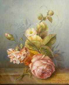 Art Apprentice Online - Downloadable Painting Pattern - Old Master Study / Van Spaendonck - Flower Painting - Acrylic by Susan Abdella, MDA, $11.95 (http://store.artapprenticeonline.com/old-master-study-van-spaendonck-flower-painting-acrylic-painting-pattern-by-susan-abdella-mda/)