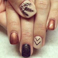 This is why today we found the best fall nail art. We accept begin 33 of the best fall nail art designs of all time. These fall nail art designs are incredible. Bravo to these amazing nail artists who think of these creative ideas. Fall Nail Art Designs, Fall Nail Designs, Nail Polish Designs, Acrylic Nail Designs, Nails Design, Brown Nail Designs, Fall Pedicure Designs, Gel Polish, Feather Nail Designs