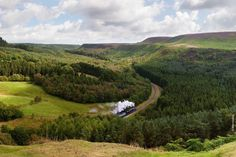 North York Moors with steam train
