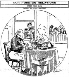 [Aug. 29, 1916] Editorial Cartoon: Our foreign relations after the war ─ Chicago…