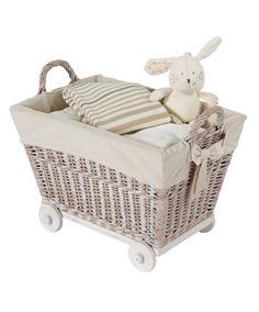 Wheeled Basket - Mamas & Papas  love this little basket for storing toys etc in babys room
