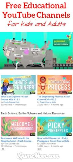 Have you ever want to learn something, like history, economy, science? Crash Course is a free learning channel on YouTub Educational Youtube Channels, Educational Videos, Educational Technology, Educational Websites For Kids, Educational Crafts, Learning Websites For Kids, Instructional Technology, Instructional Strategies, Vídeos Youtube