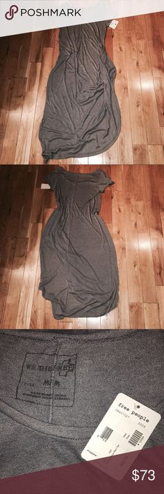 Free People Maxi Dress NWT Free People Harvest Moon Maxi Tee, this can be worn either as a dress or a tee, extremely cute, knotted in the front so that it drapes from one side; unlined, so it is somewhat transparent. Let me know if you have any questions :) Free People Dresses Maxi