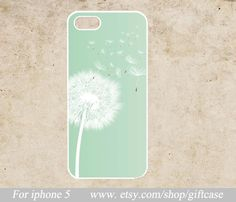 Dandelion iphone 5 case  mint green iphone case  by Giftcase, $6.99