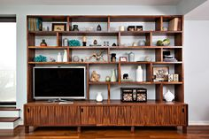 beautiful wall unit for TV + display