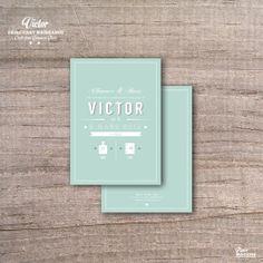 Fairepart de naissance vintage Victor par MarionPapierMachine, $25.00