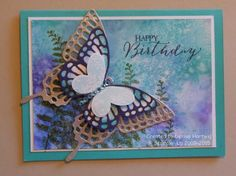 Special Watercolor Birthday by niece - Cards and Paper Crafts at Splitcoaststampers, butterfly basics