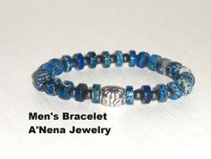 Mens Bracelet  Imperial Jasper  And A Silver  by ANenaJewelry, $65.00
