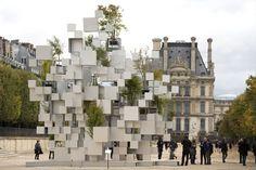 Sou Fujimoto Constructs Inhabitable Nomadic Structure for Parisian Art Fair