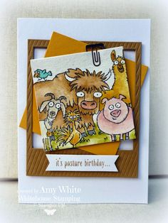 We love the watercoloring on this card!