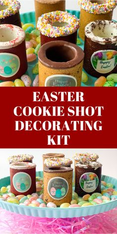 Click to get a kit to decorate your Easter Basket, so that you can have fun even when indoors with your kids. The Dirty Cookie Provides a delicious addition to Easter eggs that are a fun indoor activity to decorate with the kids. kids easter ideas,decorating for easter, holidays easter, easter foods, easter dinners, easter inspiration, easter for kids baskets, easter gift ideas for kids, make easter basket kids, easter crafts kids basket, easter basket for kids, diy easter basket ideas, Easter Gift For Adults, Easter Baskets For Toddlers, Easter Baskets To Make, Boys Easter Basket, Cookie Shots, Easter Holidays, Easter Cookies, Basket Ideas, Kids Diy