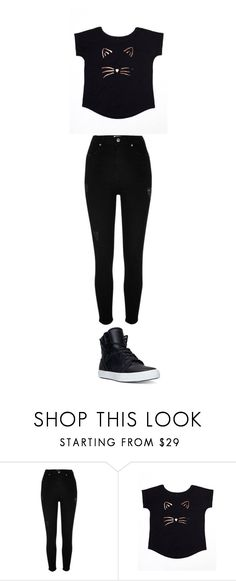 """Cute"" by kitann ❤ liked on Polyvore featuring River Island and Supra"