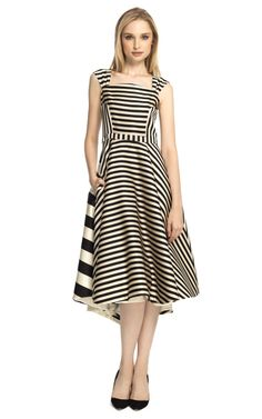 Multi Stripe Swing Dress