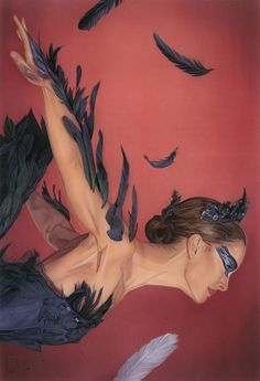 """wow hendricksonart:  My latest limited edition print,""""The Black Swan"""" is now available for purchaseas a fine art giclee print with an edition size of 50. The Black Swan by Robert Hendrickson / edition of 50 / $40 A tribute to Darren Aronofsky's Black Swan for the """"Where is my mind?"""" group show at Bottleneck Galleryin New York, exhibiting until July 26, 2013. For more of my work - Follow on Instagram www.roberthendrickson.net"""