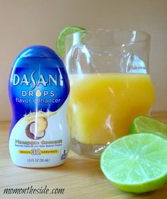 Morning Paradise Drink with New Dasani Drops. This adult beverage is full of flavor and only four ingredients. You can leave out the alcohol as well!
