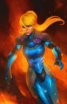 Zero Suit Samus by Charles Tan