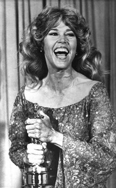 "5/5/14  6:51p  The Academy Awards Ceremony 1979: Jane Fonda  Best Actress Oscar  for ""Coming Home"" 1978  Big Laugh"