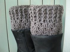Womens Boot Cuffs Crocheted Boot Cuffs Boot Toppers by Ebruk, $25.00 #uggboots #uggs #boot