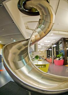 A slide at #Google's office takes #design to a whole new level.