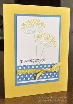Thinking of You Card, Stampin Up, Blank Inside on Etsy, $3.00