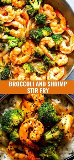 This Quick and Easy Broccoli and Shrimp Stir Fry is a healthy and delicious 20 minute dinner! Skip the takeout and make this instead!