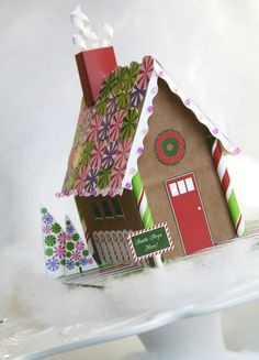 Paper Gingerbread House Download | Paper & Cake
