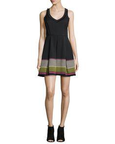 Sleeveless V-Neck Embroidered Party Dress