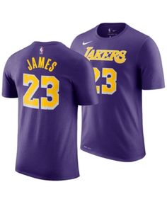 a6e1344375c Nike LeBron James Los Angeles Lakers Statement Name and Number T-Shirt