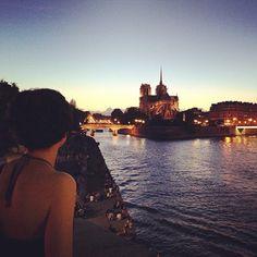 Sunset on Notre-Dame.